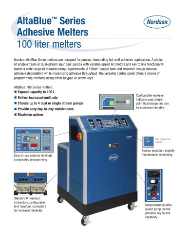 AltaBlue Series 100 Melters Product Literature