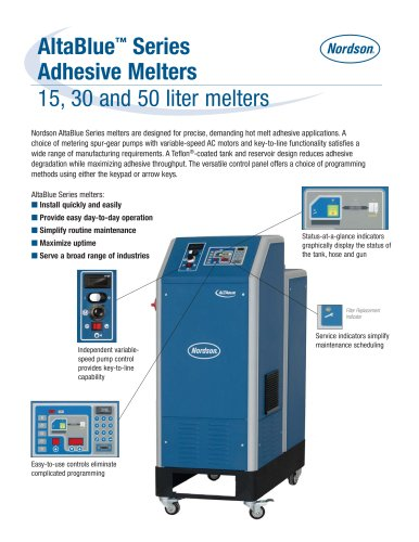 AltaBlue Series 15, 30 and 50 Melters Product Literature