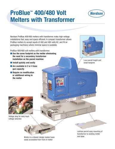 ProBlue ? 400/480 Volt Melters with Transformer