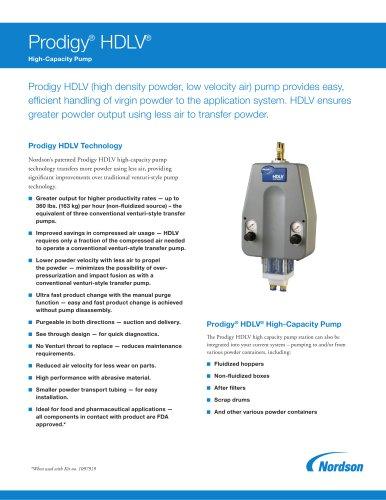Prodigy HDLV High-Capacity Pump