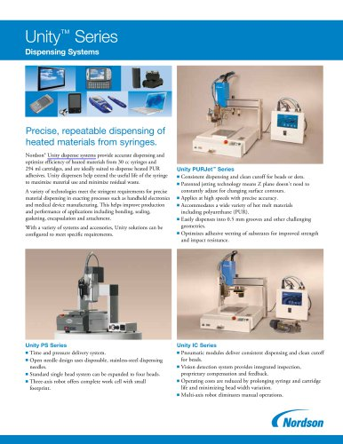 Unity ? Series Dispensing Systems