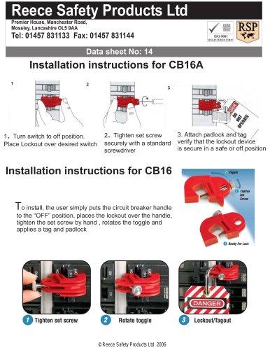 CB16 / CB16A MCB Lockouts