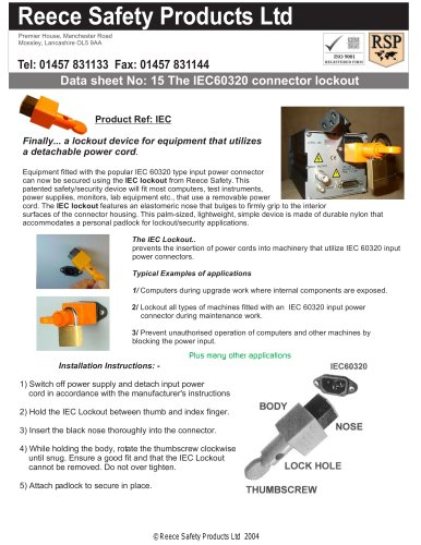 IEC 60320 Lockout
