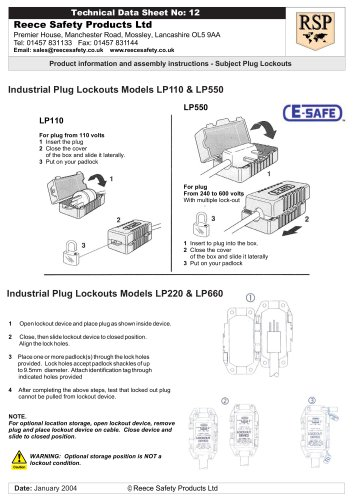 LP550 Plug Lockouts