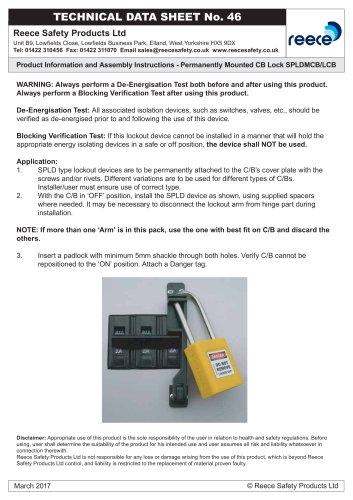 SPLD Circuit Breaker Lockouts, Permanently Mounted