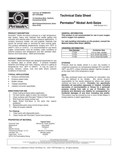 Nickel anti seize lubricant 77134
