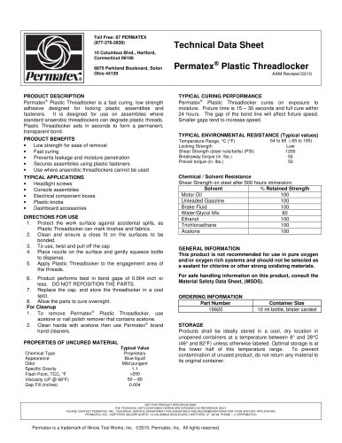 Permatex Plastic Threadlocker