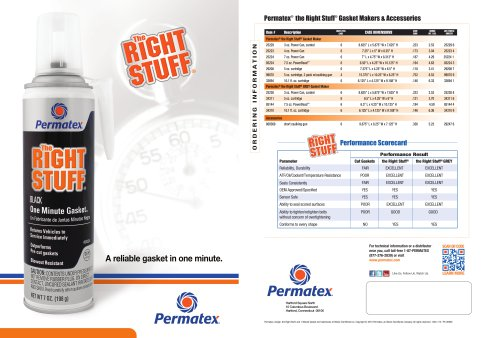 Permatex® the Right Stuff®  Gasket Makers & Accessories