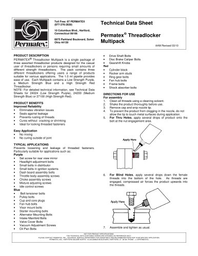 Permatex Threadlocker Multipack