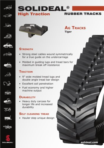 SOLIDEAL Agricultural Tracks & Mid Rollers
