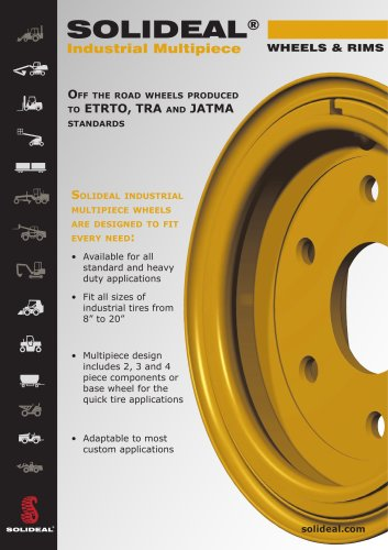 SOLIDEAL® Industrial Multipiece WHEELS & RIMS