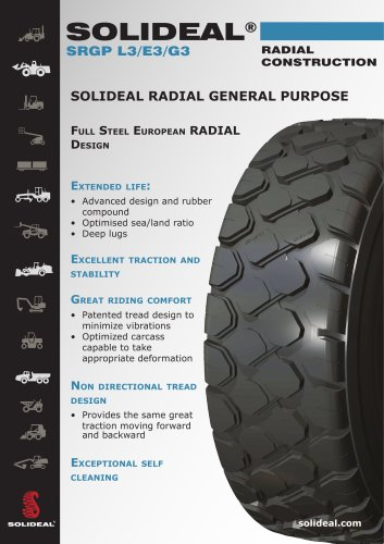 SOLIDEAL® SRGP L3/E3/G3 RADIAL CONSTRUCTION