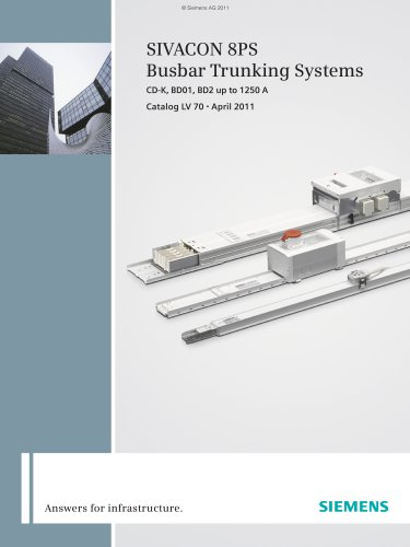 LV 70 - SIVACON 8PS Busbar Trunking Systems
