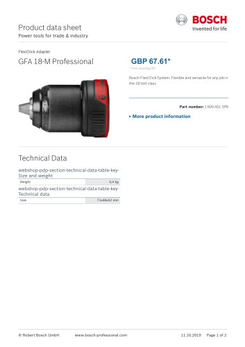GFA 18-M Professional