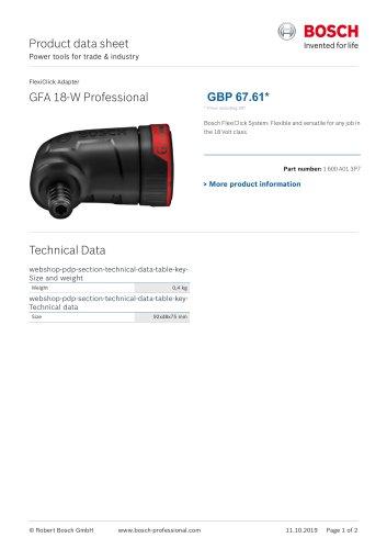 GFA 18-W Professional