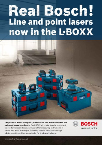 Line and point lasers  now in the L-BOXX