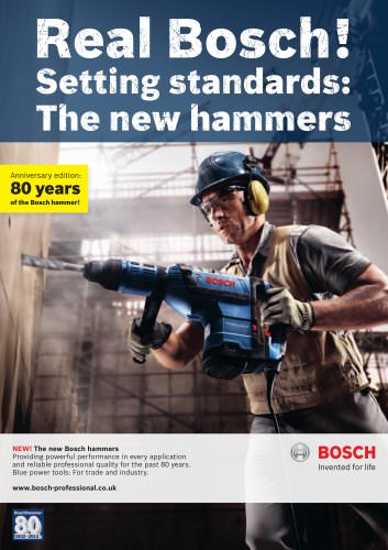 NEW! The new Bosch hammers