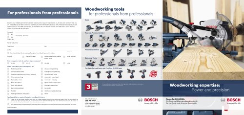 Woodworking expertise:  Power and precision