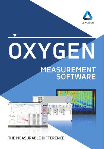 OXYGEN Measurement Software brochure