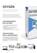 OXYGEN Measurement Software brochure - 2