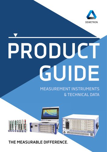 Product Guide / Measurement Instruments & Technical Data