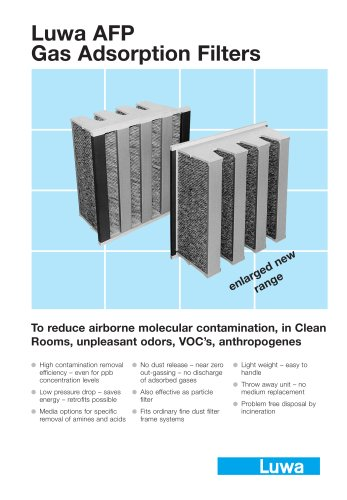 Luwa Gas Adsorption Filter AFP
