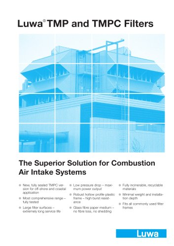Luwa TMP and TMPC Filter for combustion air intake systems