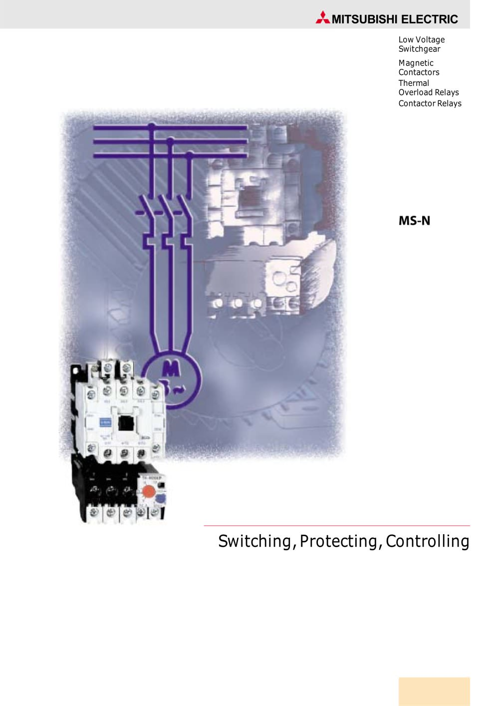 Contactor And Overload Wiring Diagram No Nc Relay Magnetic Contactors Relays Mitsubishimagnetic