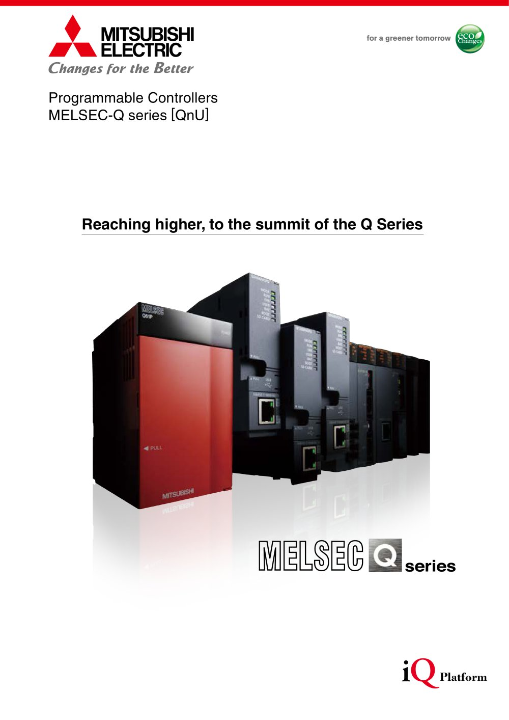 Melsec Q Series Programmable Controller Brochure Mitsubishi Automations Gt Motor Control Circuits Simple Ac Speed 1 96 Pages