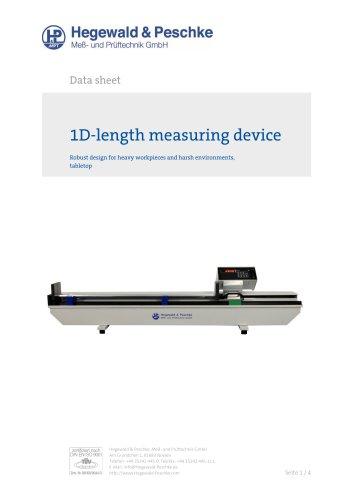 1D heavy length measurement devices, tabletop