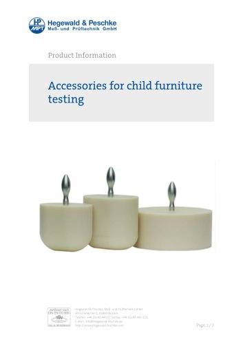 Accessories for child furniture testing