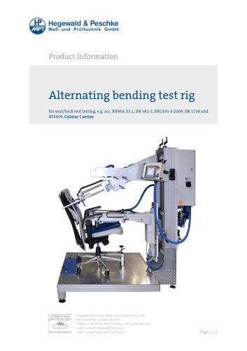 Alternating bending test rig for seat and backrest testingt