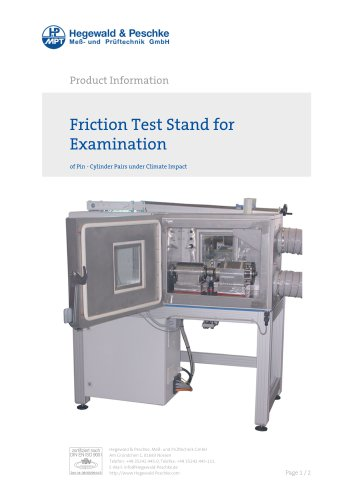 Friction test stand