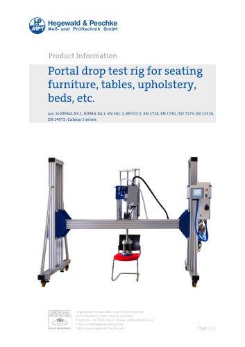 Furniture testing - Portal drop test rig