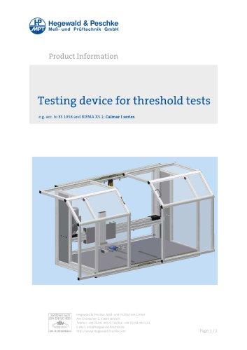 Furniture testing - Threshold test