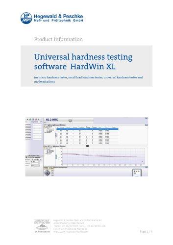 Hardness testing software Hardwin XL