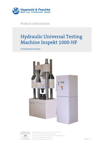 Hydraulic Universal Testing Machine Inspekt 1000-HF