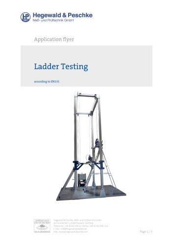 Ladder test stand