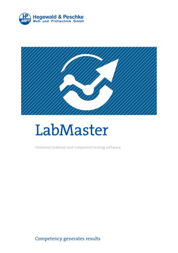 Material testing software LabMaster