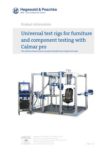 Tool box universal furniture test rigs