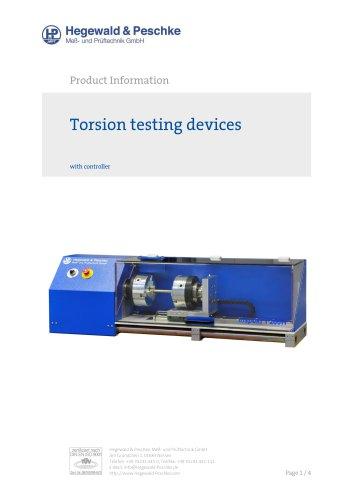 Torsion testing devices