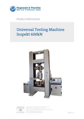 Universal Testing Machine Inspekt 600kN