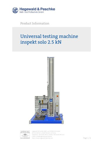 Universal testing machine inspekt solo
