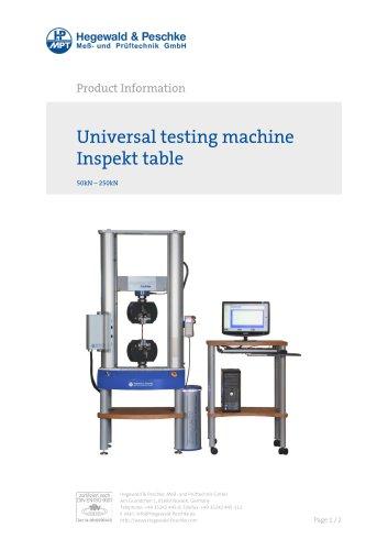 Universal testing machine Inspekt table