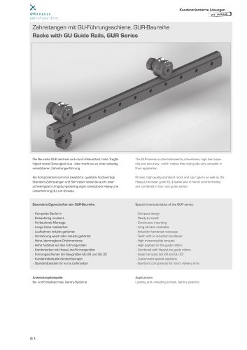 Rack Guideways GUR Series