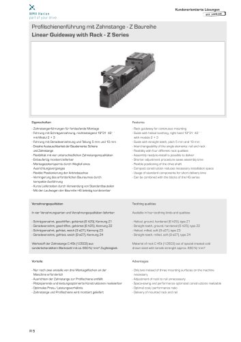 Rack Guideways Z Series