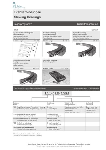 Slewing Bearings 2014