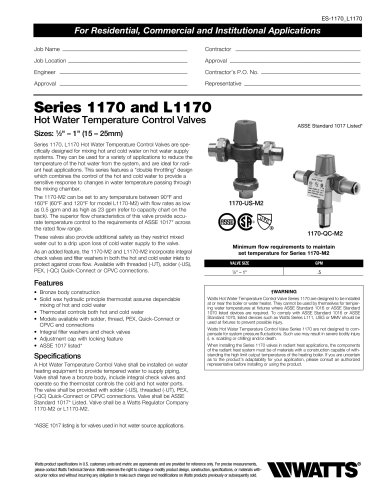 Series 1170 and L1170