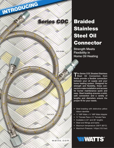 Series COC Braided Stainless Steel Oil Connector