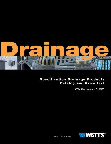 Specification Drainage Products Catalog and Price List